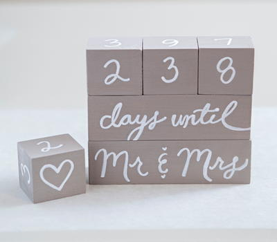 Simple and Sweet Wedding Countdown