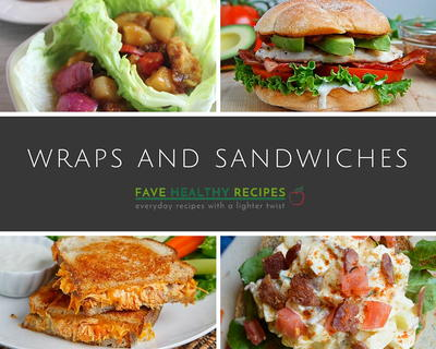 24 Easy Healthy Recipes Simple Wrap and Sandwich Recipes