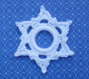 Crochet Six Point Snowflake Ornament