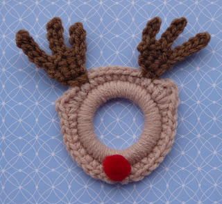 Crochet Rudolph the Red Nosed Reindeer Ornament
