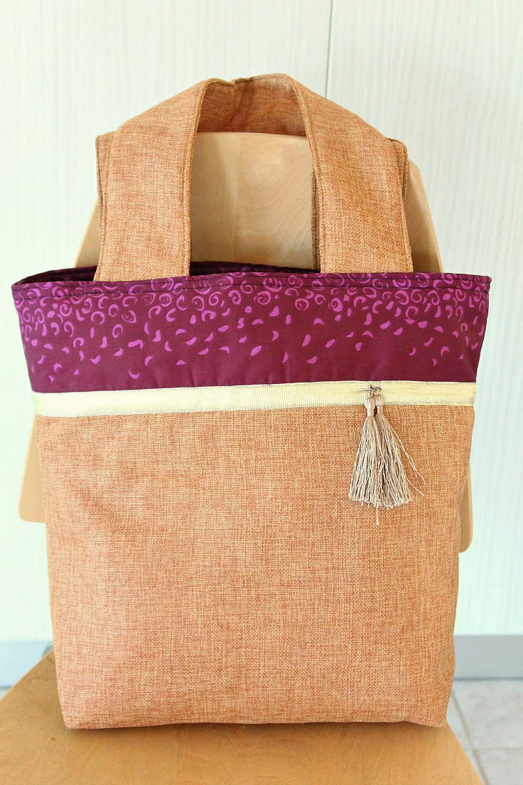 Color Block Tote Sewing Pattern Allfreesewing Com