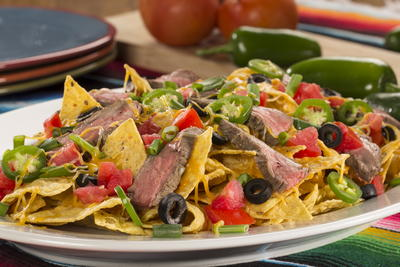 EDR Marinated Steak Nachos