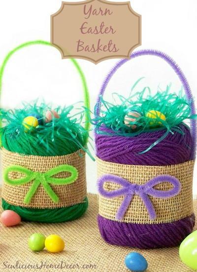 Yarn diy easter baskets favecrafts