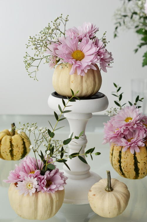 Rustic Wedding Pumpkin Vase