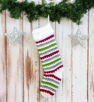 Classic Crochet Christmas Stocking Pattern