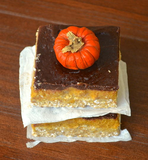 No-Bake Pumpkin and Chocolate Bars