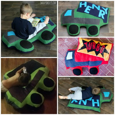 Mega Dump Truck Pillow Sewing Pattern