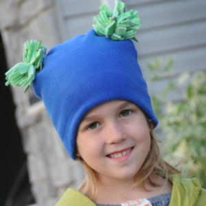 Pom Pom Fleece Hat Sewing Pattern
