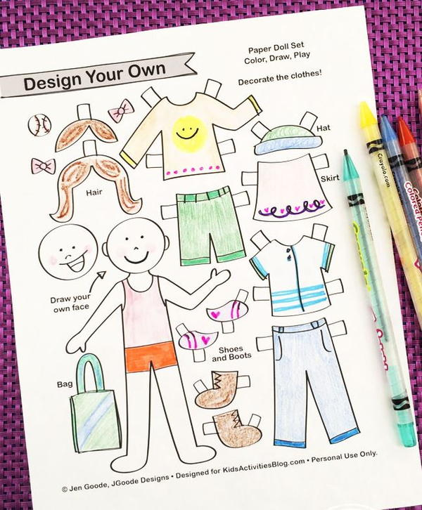 Design Your Own Paper Doll