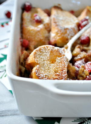 Overnight Cranberry French Toast