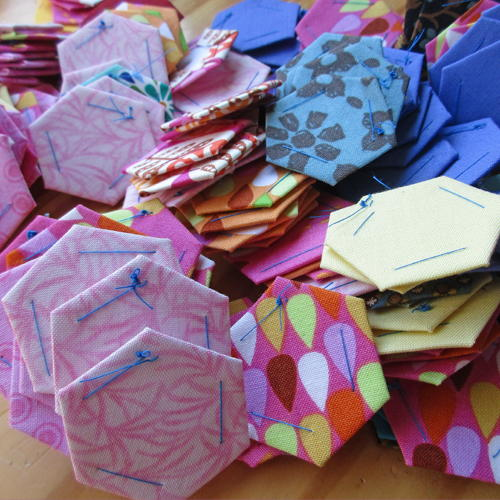 How to Baste English Paper Pieced Hexagons