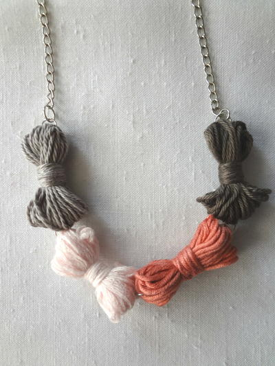 Yarn Bow Necklace