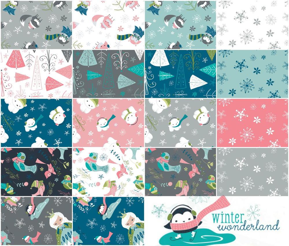 winter wonderland fabric bundle