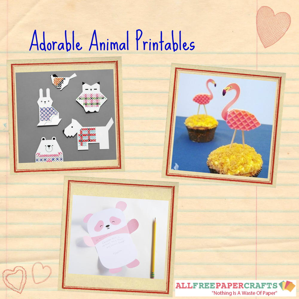 20 adorable animal printables allfreepapercrafts com