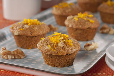 Orange Walnut Mini Muffins