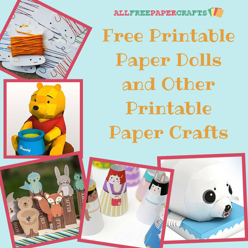 Influential image with free printable paper crafts