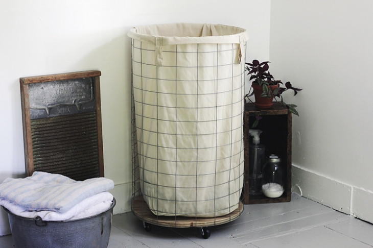 Wire Diy Laundry Hamper Diyideacenter Com
