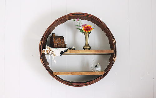Rustic Circle DIY Shelf