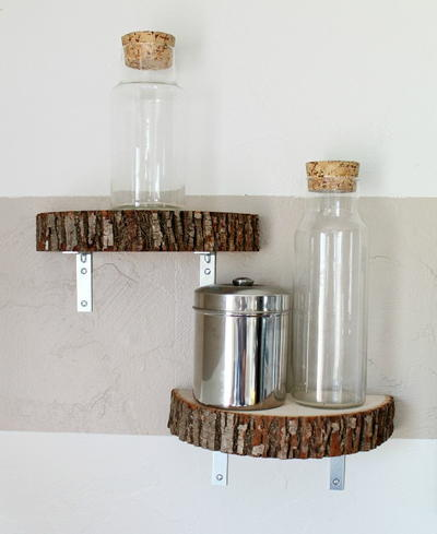 Easy Modern Wood Slice DIY Shelf