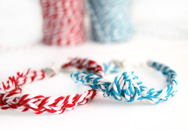 Bakers Twine Braided Friendship Bracelets