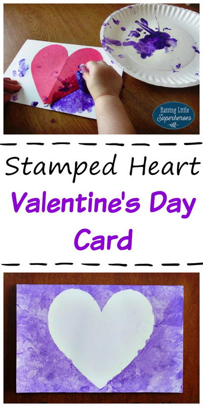 Stamped Heart Valentine's Day Card