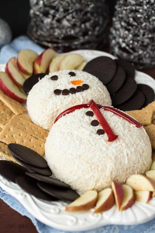 Snowman White Chocolate Toffee Cheese Ball