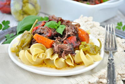 Easy Slow Cooker Italian Pot Roast