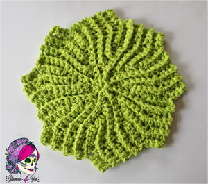 Circle Point Crochet Washcloth