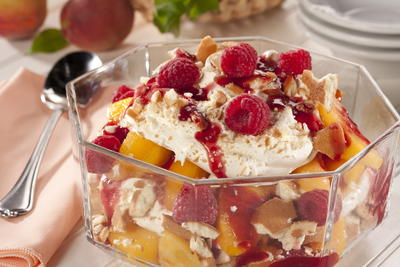 EDR Peach Melba n Cream Trifle