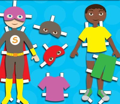 Boy Superhero Paper Doll
