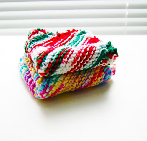 Unbelievably Easy Knit Dishcloth