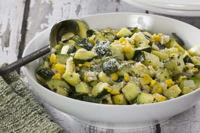 EDR Skillet Zucchini and Corn