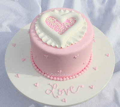 Lucky in Love Valentines Day Cake