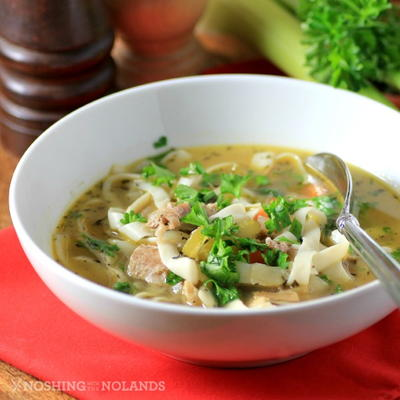 Lightened-Up Turkey Noodle Soup