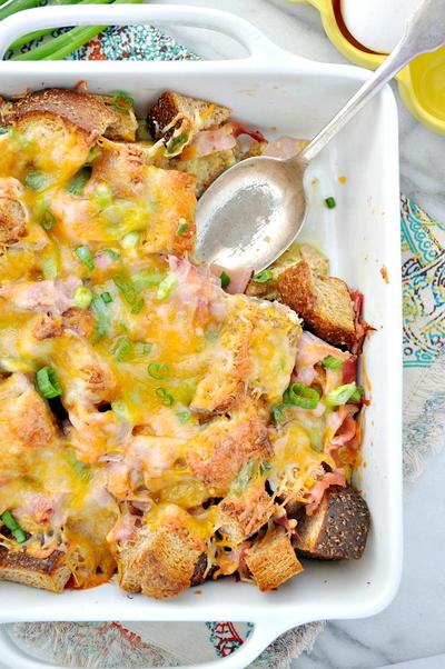 Easy Overnight Breakfast Strata_2