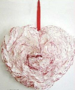 Valentine's Coffee Filter Wreath