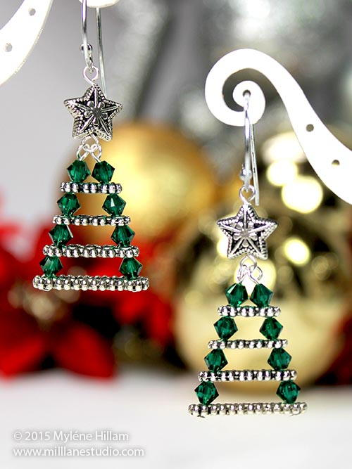 Evergreen Christmas Tree Earrings