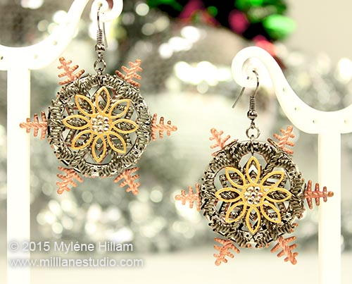 Metal Snowflakes Earrings