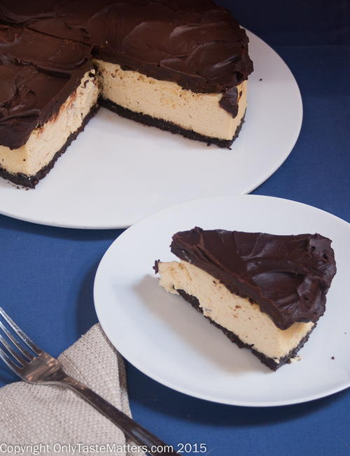 Kahlua Cheesecake with Chocolate Almond Crust and Chocolate Ganache_1