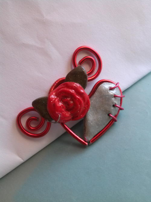 Heart to Heart Brooch