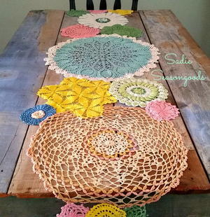 Cute Spring Doily Table Runner