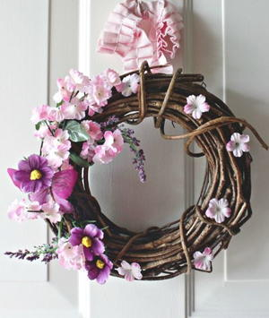 Easiest Spring Wreath