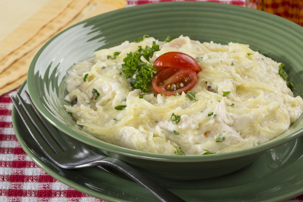 Spaghetti Squash Chicken Alfredo Everydaydiabeticrecipes Com