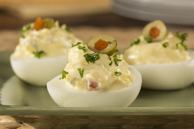 EDR Spanish Olive Deviled Eggs