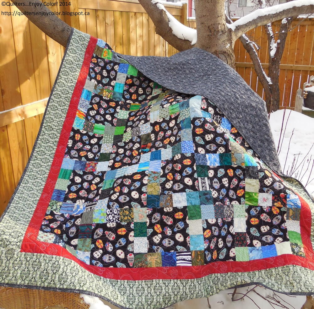 11 Patch Scrap Quilt Favequilts Com