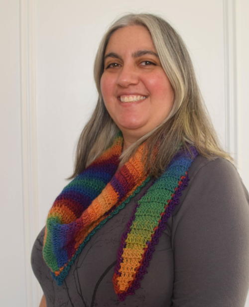 Rainbow After the Storm Crochet Shawlette