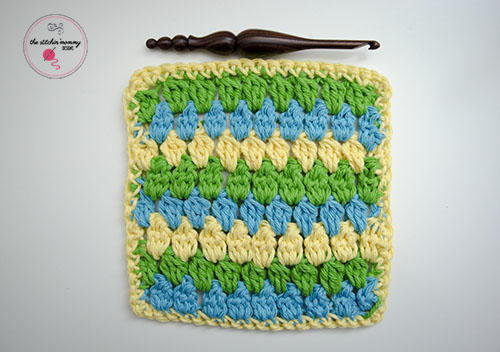 Cheerful Clusters Crochet Dishcloth