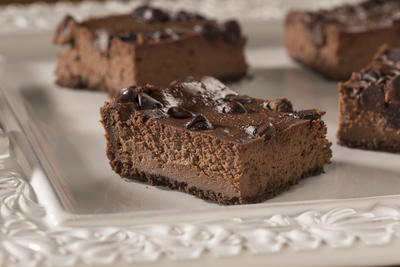 EDR Triple Chocolate Cheesecake Squares