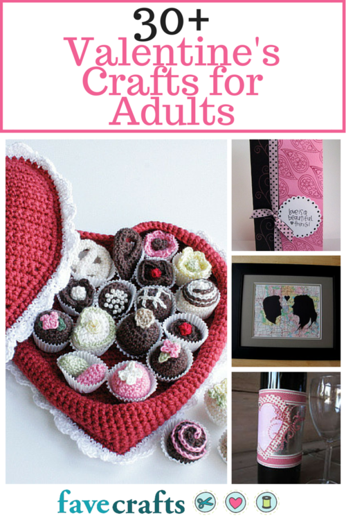 36 Valentine Crafts for Adults: Making Valentine Crafts for Adults