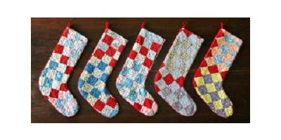 Stockings from a Vintage Quilt